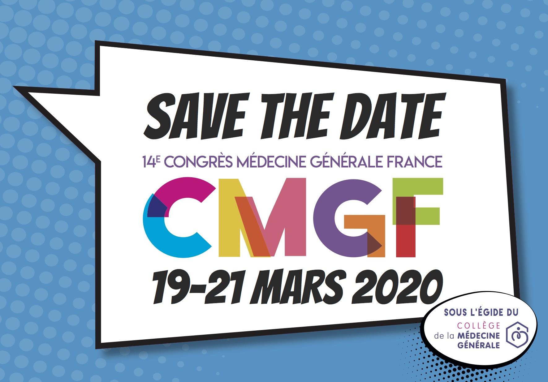 RDV du 19 au 21 mars 2020 pour le prochain CMGF !
